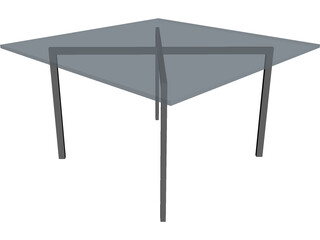 Mies van der Rohe-Barcelona Table 3D Model