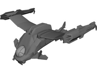 Final Fantasy Deep Eyes Dropship 3D Model