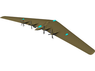 Northrop XB-35 Flying Wing 3D Model 3D Preview
