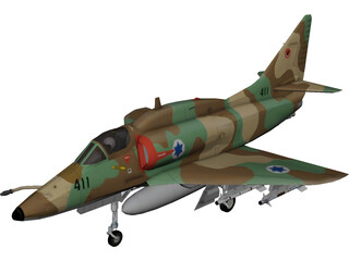 McDonnell Douglas A-4 Skyhawk (Ayit) 3D Model 3D Preview