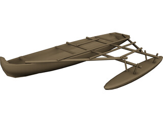 Hawaiian Canoe 3D Model