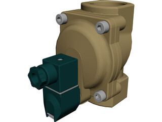 Solenoid Operated Valve 3D Model