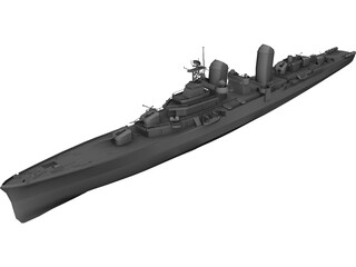 Battle Ship 3D Model