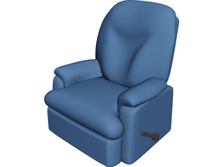 Leather Recliner 3D Model