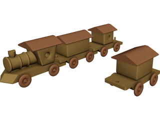 Toy Train 3D Model 3D Preview