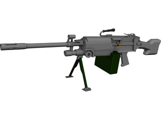 Squad Automatic Weapon 3D Model