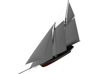 America Racing Yacht 3D Model 3D Preview