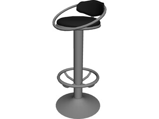 Barstool Dolly 3D Model