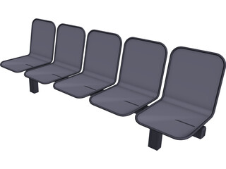 Airport Chairs 3D Model