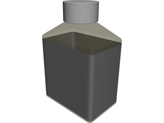 Glass Varnish Bottle 3D Model
