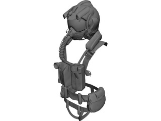 JSF USA Air Suit with Helmet 3D Model