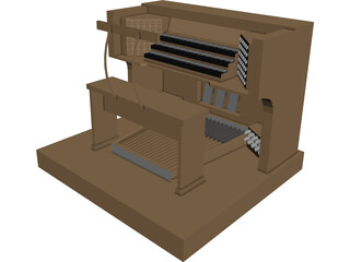 Church Organ 3D Model