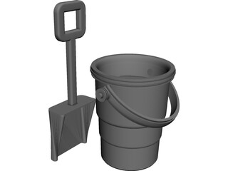 Sand Pail and Shovel 3D Model