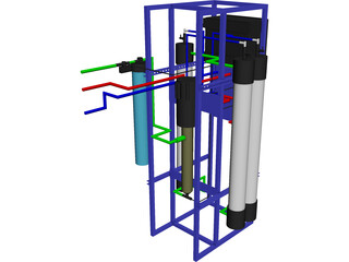 Reverse Osmosis Machine (FDA Approved) 3D Model