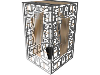 Golden Cage  3D Model 3D Preview