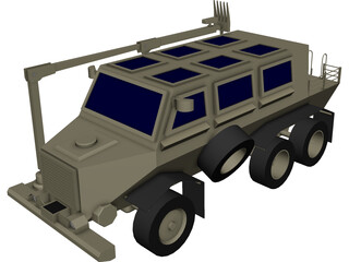 Buffalo Mine Clearing Armored Vehicle 3D Model