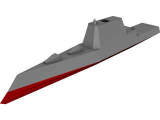DDX Multi-Mission Stealth Destroyer 3D Model