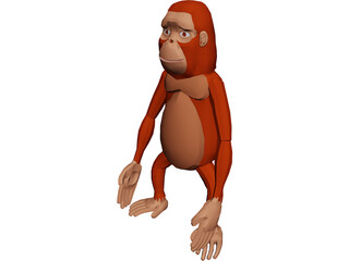 Funny Ape 3D Model