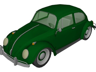 Volkswagen Beetle (1967) 3D Model