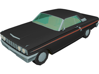Ford Fairlane 500 Sports Coupe (1964) 3D Model