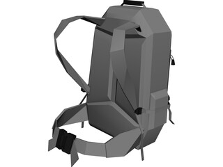 Bag Slalom 40 (Medium Touristic For Tourists And Outdoors) 3D Model