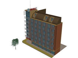 Small Passanger Hotel (Sofia, Bulgaria) 3D Model