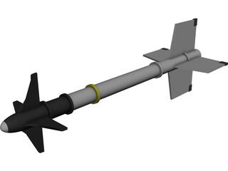 Sidewinder AIM-9 3D Model