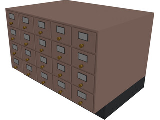 Card Catalogue 3D Model