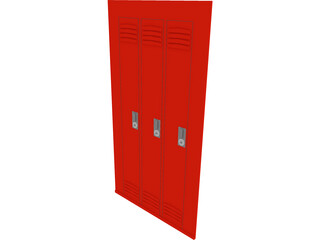 Wall Locker 3D Model