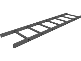 Aluminium Ladder 3D Model