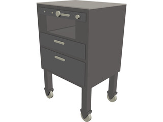 Hospital Bedside Console 3D Model
