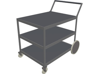 Library Cart 3D Model