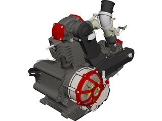 Honda CBR Blackbird 1100DS Engine CAD 3D Model