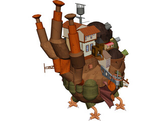 Howl Moving Castle 3D Model