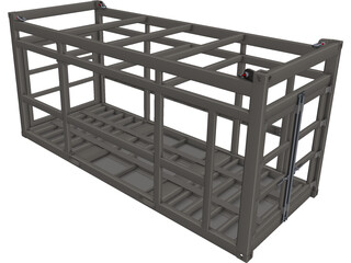 Offshore Container Frame CAD 3D Model