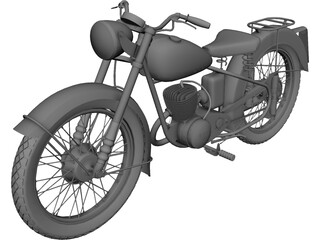 BSA Motorcycle 3D Model