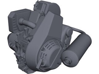 Engine Lombardini LGA 340 CAD 3D Model