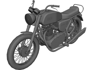 BSA Lightning 3D Model 3D Preview