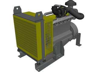 John Deere Engine CAD 3D Model