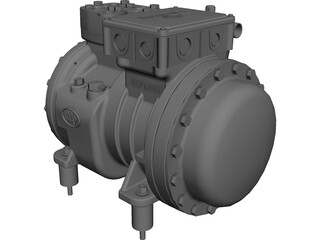 Dorin SE053 Compressor CAD 3D Model