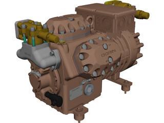 Dorin SE326 Compressor CAD 3D Model
