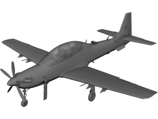 Embraer A-29B Super Tucano 3D Model