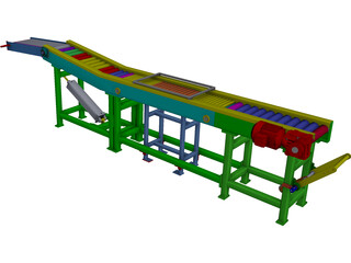 Shrink Conveyor CAD 3D Model