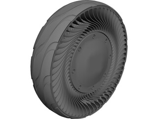 Airless Tire 3D Model