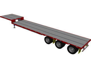 Dropdeck Trailer CAD 3D Model