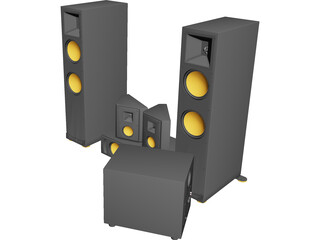 Home Theater Speaker System 3D Model
