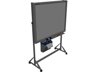 Stand Panasonic Panaboard 3D Model