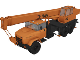 KrAZ 63221 with KTA-25 Crane 3D Model