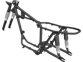 Triumph T120 Motorcycle Frame (1968) CAD 3D Model