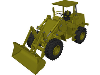 Wheel Loader CAD 3D Model
